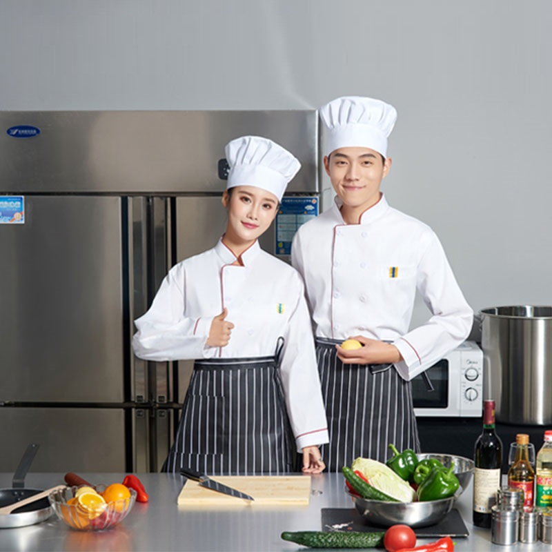 M 4XL Restaurant&Bakery&Hotel Kitchen Man Woman Chef Jacket,Long/Short  Sleeve Work Uniform,Food Service Chef Cooker Clothing,E1|Chef Jackets| -  AliExpress