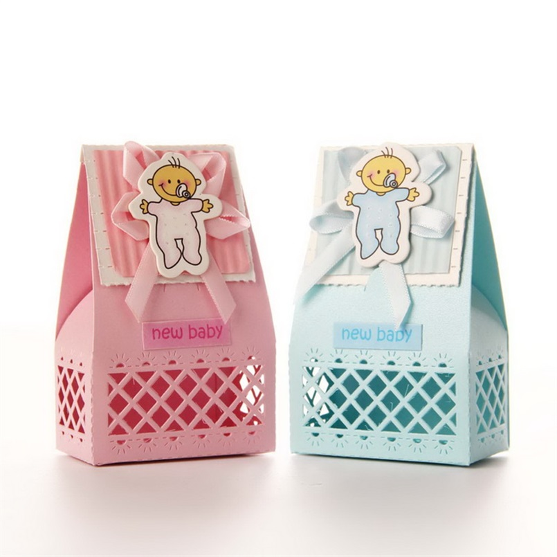 Laser Cut Baby Favor Box Baby Shower Party Favors New Baby Candy