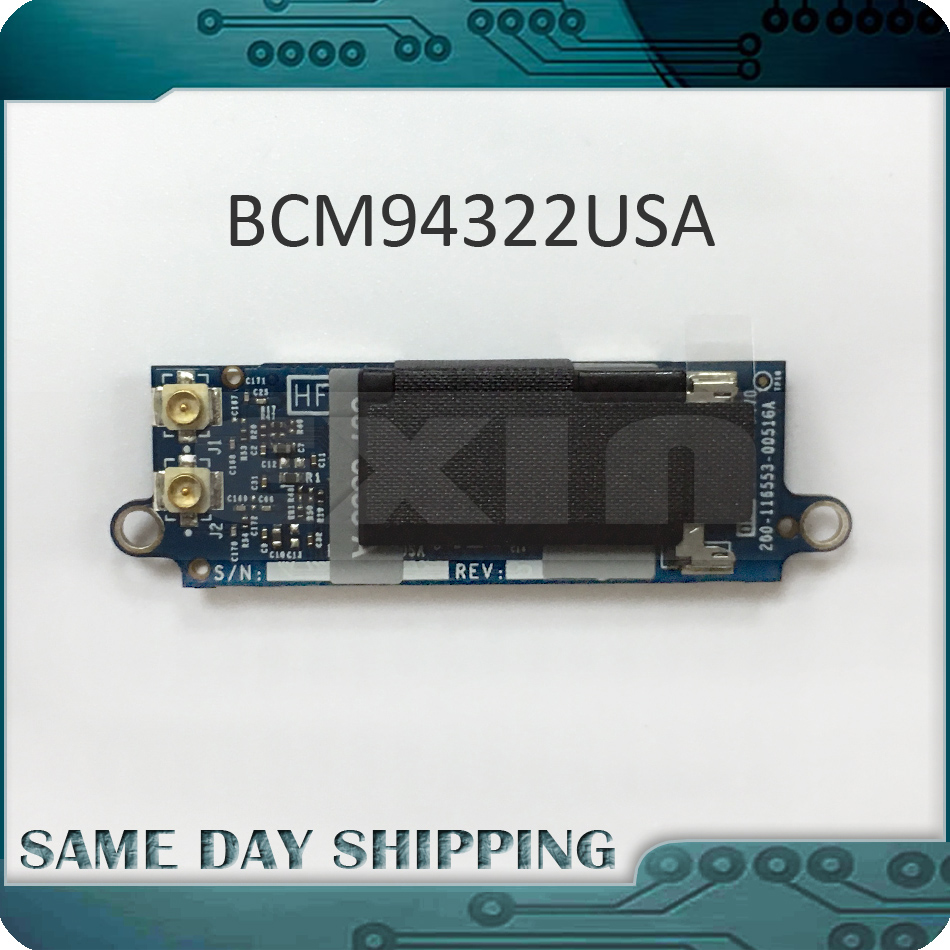 NEW 607-4144-A Wifi Bluetooth Airport Card for Apple Macbook Pro A1278 A1286 Wifi Bluetooth Airport Card 2008 2009 2010 Year high quality airport extreme 2 4g 5g dual frequency bcm94322mc wireless macpro pci e 1x wifi card for all mac pro