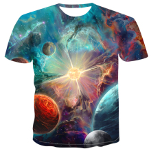Colorfull Universe Space Galaxy Star New Summer Fashion Hip Hop men T-shirt 2019 men/women 3d print women tops tee Male 4XL