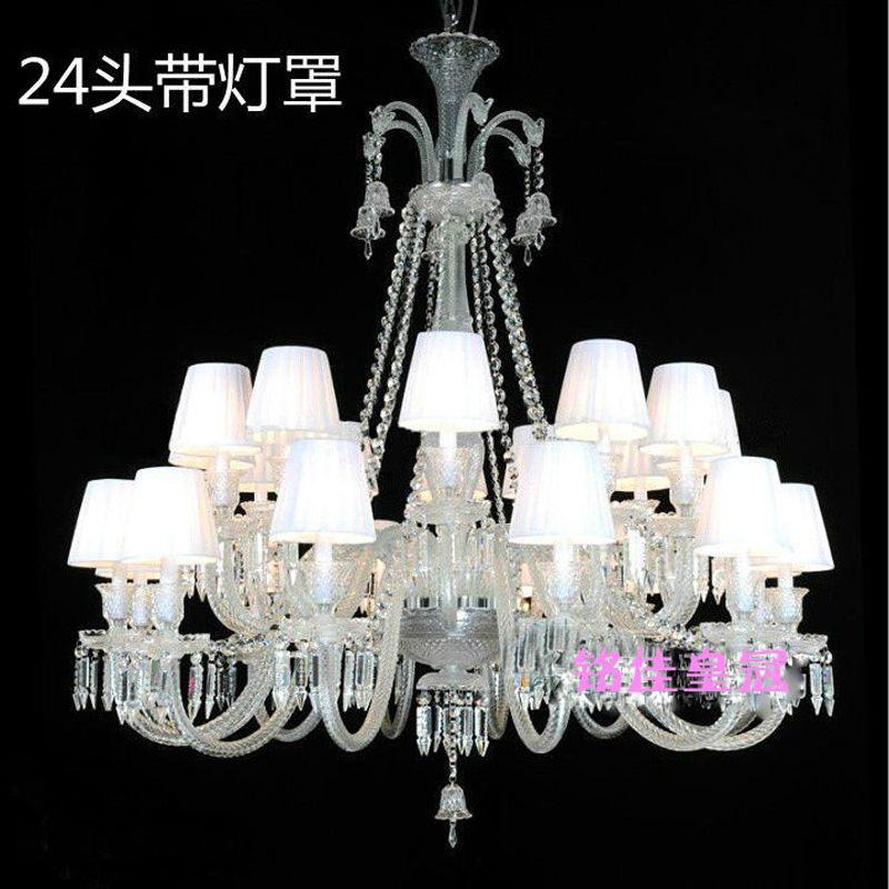 Black Chandelier For Living Room 24 Arm Retro Large Crystal Chandeliers Led Home Lighting Bedroom In From Lights