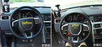 Matte Interior For Land Rover Discovery Sport 2015 2016 2017 ABS Steering Wheel Decorative Strip Cover Trim