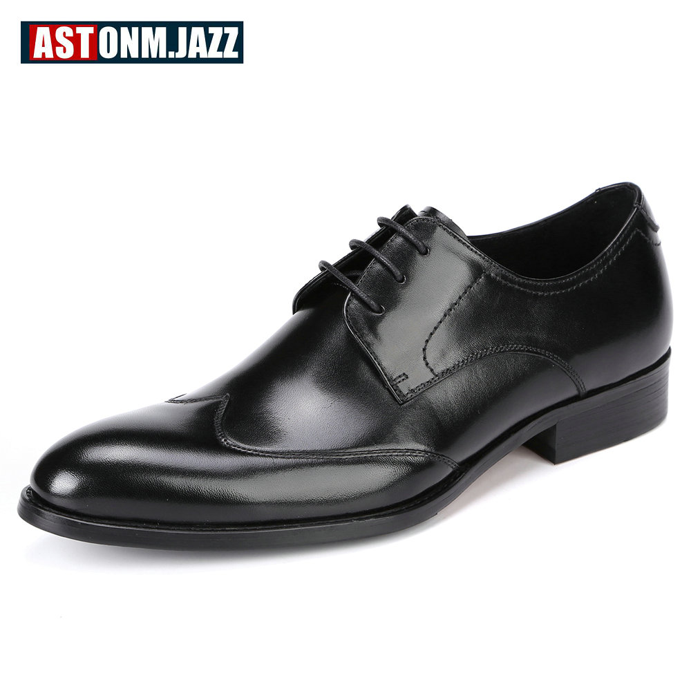 Men's Wedding Dress Shoes Leisure Casual Genuine Leather Oxfords Shoes For Men Business Brogues Shoes Moccasins Pointe Toe Shoes men s casual genuine leather crocodile oxfords shoes wedding shoes for mens brogues shoes gentleman business shoe dress moccasin