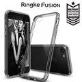 Fusão ringke originais para iphone 7 7 plus caso prémio Proteção PC + Silicone Híbrido de Cristal da gota Limpar Back Capa Fina casos