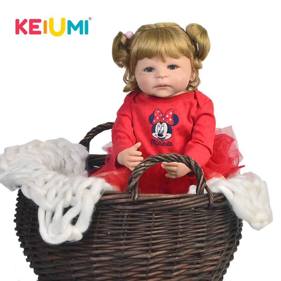 KEIUMI 22 Inch Full Vinyl Silicone Reborn Baby Dolls Realistic Princess Baby Doll For Kids Birthday