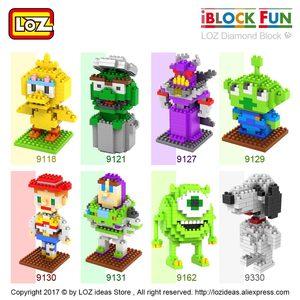 Image 2 - LOZ Diamant Blöcke Hund Modell Cartoon Tiere Spielzeug Set Action Figure Kunststoff Mirco Ziegel Kinder Montage Spielzeug für Kinder DIY 9330