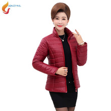 JQNZHNL Plus Size Women Short Parkas 2017 Mid-aged Winter Down Jacket Coat Female Padded Cotton Parkas Basic Jackets Coats AD126