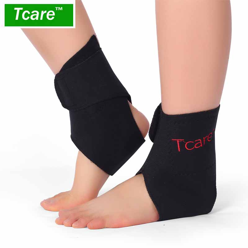 Tcare 1Pair Tourmaline Self heating Far Infrared Magnetic Therapy Ankle Care belt Support Brace Heel Massager Foot Health Care soumit pu invisible height increase insole for men women shoes inserts arch support lift taller increasing shoe insole pad soles