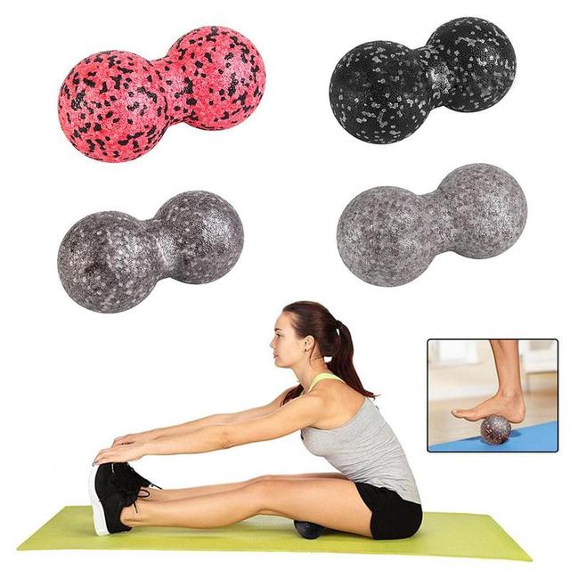 16*8cm Epp Fitness Peanut Massage Ball Lacrosse Ball For Shoulder Back Legs Rehabilitation Therapy Training 5 Colors To Choose