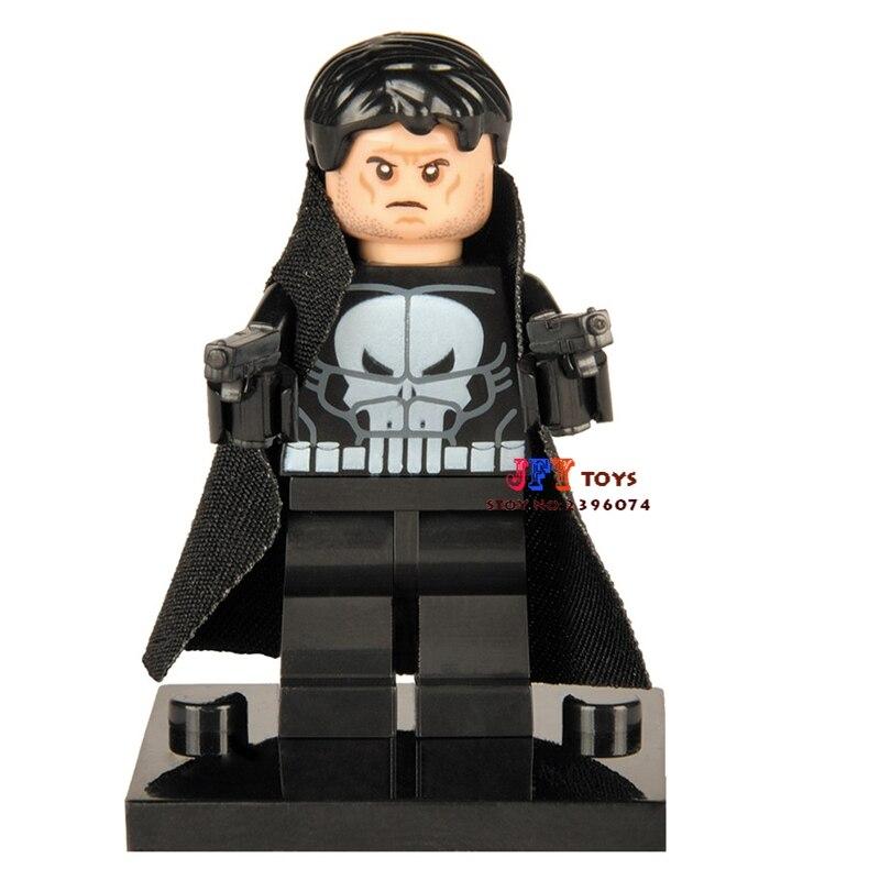 50pcs superhero Punisher building blocks bricks friends for girl boy kids children toys brinquedos menina