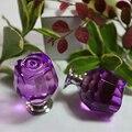 6 pcs de vidro roxo puxadores de móveis de cozinha de peito botão gaveta do armário alças puxa