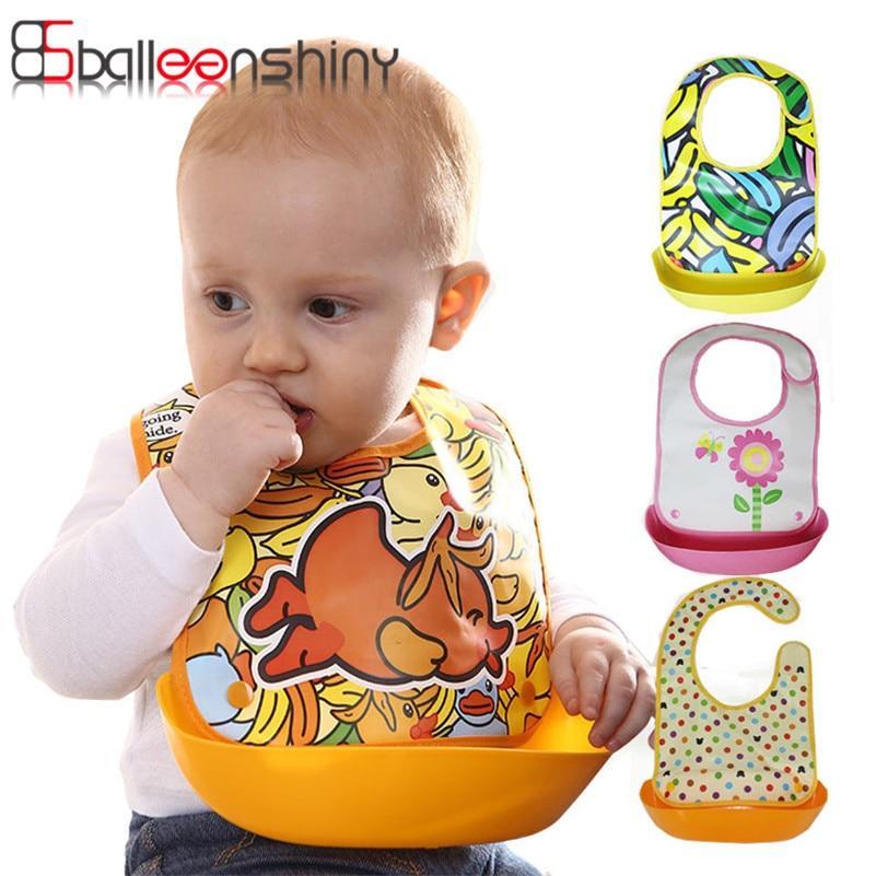 Cartoon Baby Bibs Lovely Animals Meals Pocket Bib Waterproof Feeding Infant Functional Saliva Towel Food Bib