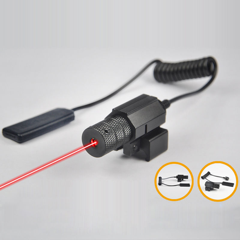 Tactical Mini Red Dot Laser Sight With Tail Switch On Off Button with Lengthen Rat Tail Hunting Optics Hunting Optics
