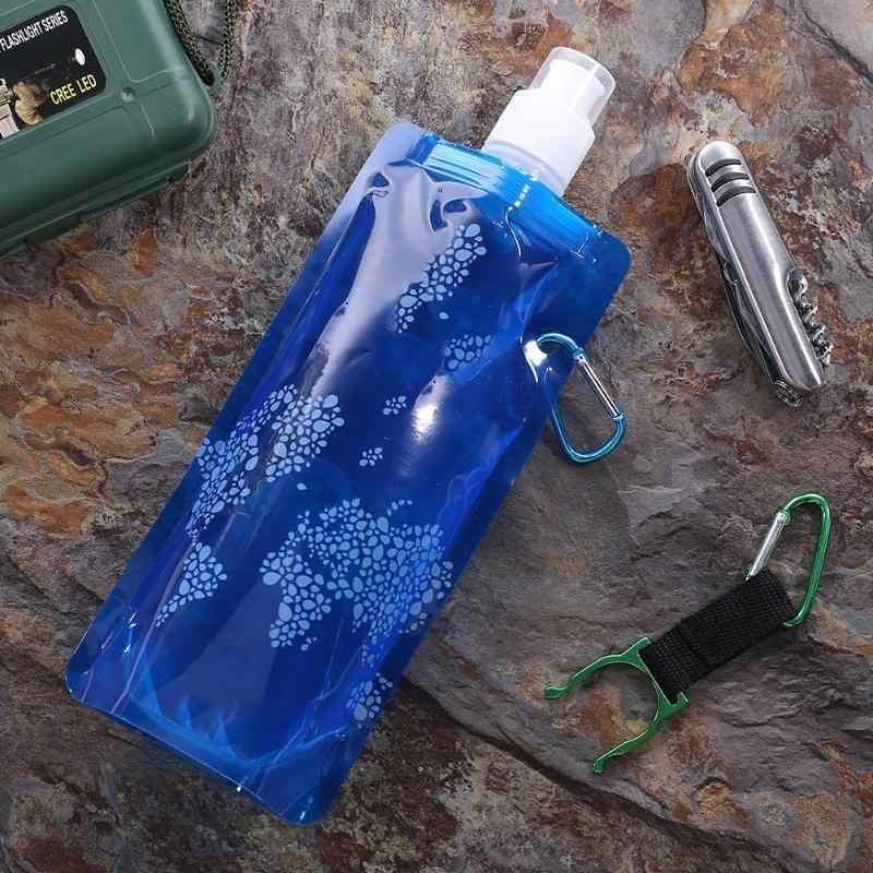 ポータブル折りたたみ水ボトルバッグ屋外スポーツ用品屋外スポーツ用品ハイキングキャンプソフトフラスコ水袋