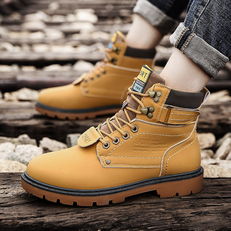 high top winter PU leather Casual shoes for adults man comfortable Cotton shoes Antiskid bottom Fashion hot sale unisex sneakers hot sale fashion comfortable men casual shoes soft genuine leather high top zipper thick sole heighten man shoes size 38 44