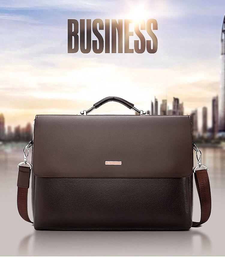 HTB1d43ZO4TpK1RjSZFMq6zG VXae 2020 Fashion Business Men Briefcase Leather Laptop Handbag Tote Casual Man Bag For male Shoulder Bag Male Office Messenger Bag