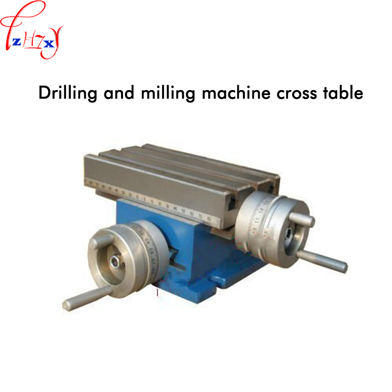 Drilling and milling machine cross manual table fixed cross-type desktop drilling and milling machine tools 1pc rotary worktable drilling and milling machine cross table 225 x175