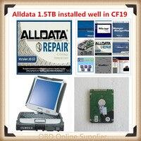 2019 hot sale alldata and mitchell 2014 V10.53 alldata repair software and Panasonic Toughbook CF19 CF 19 Laptop free shipping