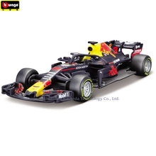 Bburago 1:43 Ferrari Red BullRB14 NO3 Simulation alloy super toy car model For  with Steering wheel control front steering