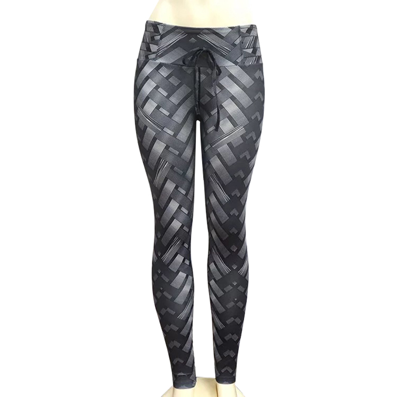 Image 5 - Nessaj Women Leggings High Waist Fitness Clothing Legging Slim Fit Pants Trousers Female Push Up Workout Printed Leggings-in Leggings from Women's Clothing