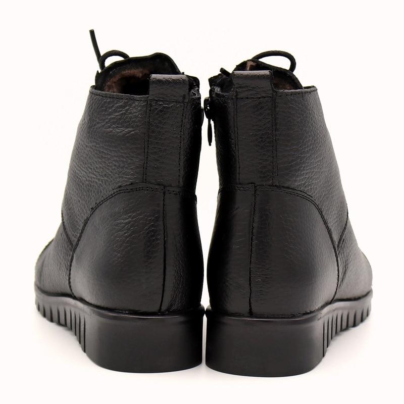 Velvet Las Velvet La Mujeres 35 Zapatos Plus Encaje brown Nieve Botas Para Cuero Genuino 43 Black Mujer Tamaño De Invierno Moda Bimuduiyu qAtfw1w