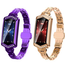 2019 Smart Watch Women Luxury IP67 Sport Waterproof Bluetooth For Android IOS Iphone Rose Gold Purple Bracelet Watch Female New(China)