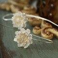 Chiang mai, Thailand  manual beautiful lotus S925 pure silver earrings dangle earrings wholesale jewelry women earring