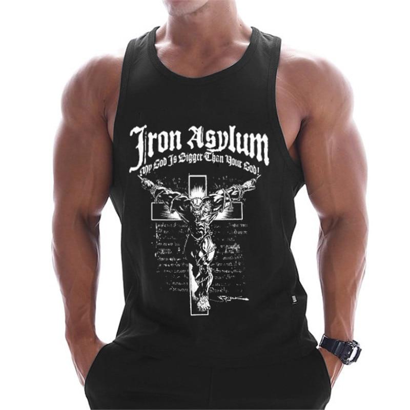 2019 New Gyms Clothing Cotton Bodybuilding Tank Top Bodybuilder Mens Ropa Hombre Tops Singlet Erkek Sleeveless Singlet Men