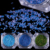 Pack de 6 Cajas de Aurora Paillette Lentejuelas Verde Amarillo Azul Manicura Nail Art Decoración 2g