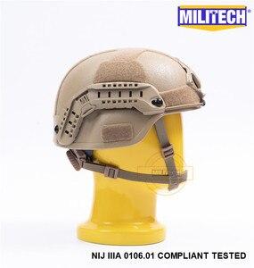 Image 3 - MILITECH Desert Tan DE MICH NIJ level IIIA 3A Tactical Bulletproof Aramid Helmet ACH ARC OCC Dial Liner Aramid Ballistic Helmet
