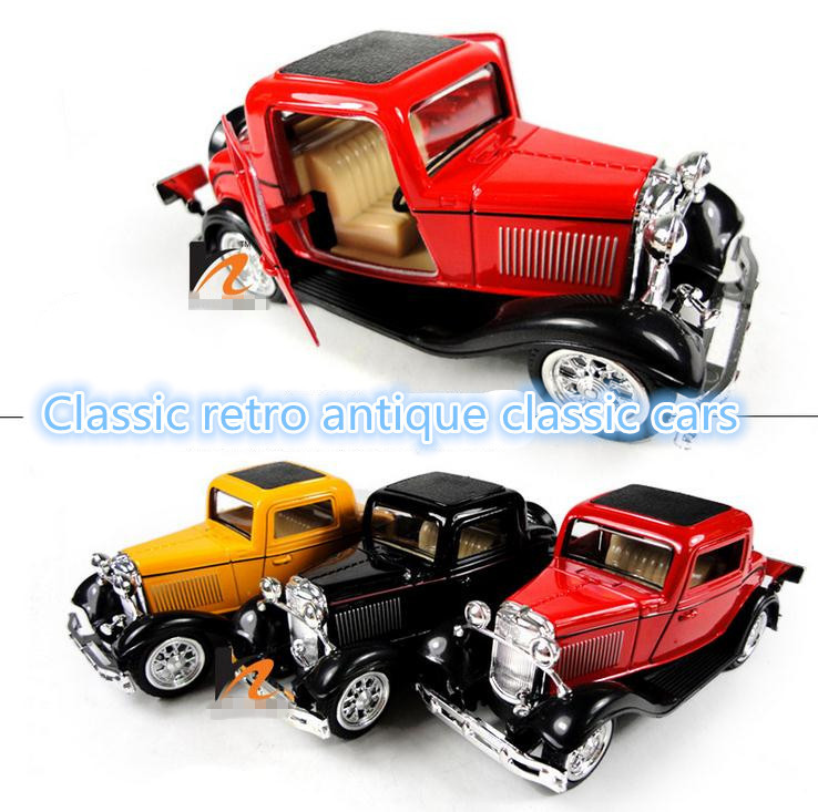 Car Toys Product : Classic toys metal retro antique cars pull