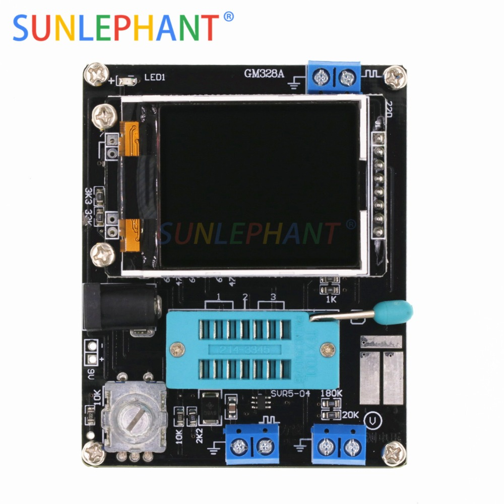 Full Assembled LCD GM328A Transistor Tester Diode Capacitance ESR Voltage Frequency Meter PWM Square Wave Signal Generator SMTFull Assembled LCD GM328A Transistor Tester Diode Capacitance ESR Voltage Frequency Meter PWM Square Wave Signal Generator SMT