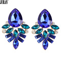 6 Colors 2017 Hot Fashion Classic Irregular Brincos Geometric Plant Flowers stud Earrings Statement Fashion Jewelry Wholesale