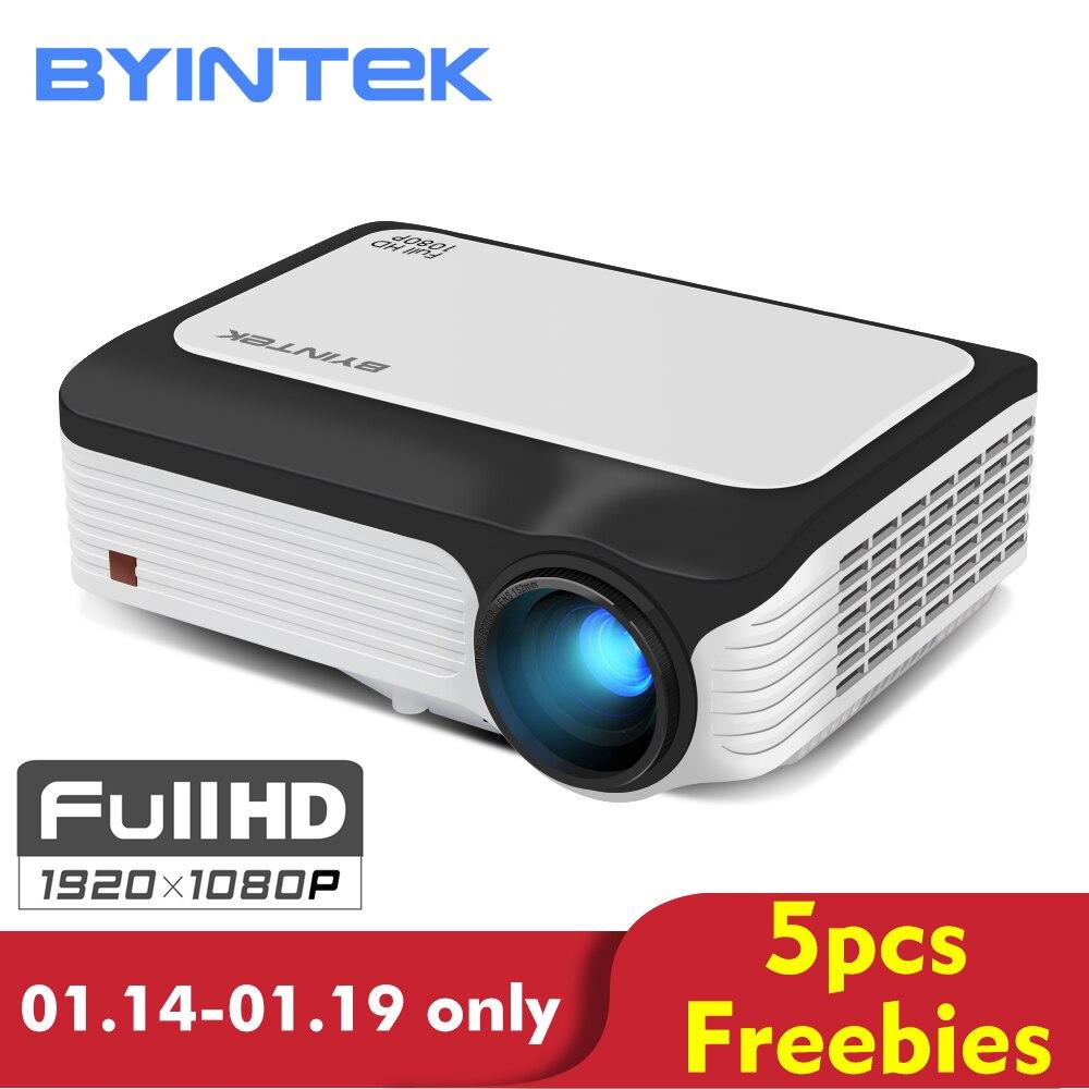 BYINTEK LUNA M1080 FULL HD 1080 P Portable LED Mini Proiettore 1920x1080 LCD da 200 pollici Video A CRISTALLI LIQUIDI Per home Theater Gioco Movie Cinema