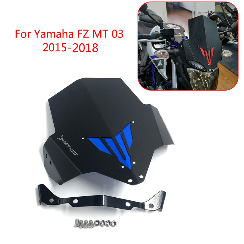 MT-03 FZ-03 MT 03 Motorcycle Upper Headlight Top Cover Windscreen Windshield For Yamaha FZ MT 03 2015 2016 2017 2018 Motorbike