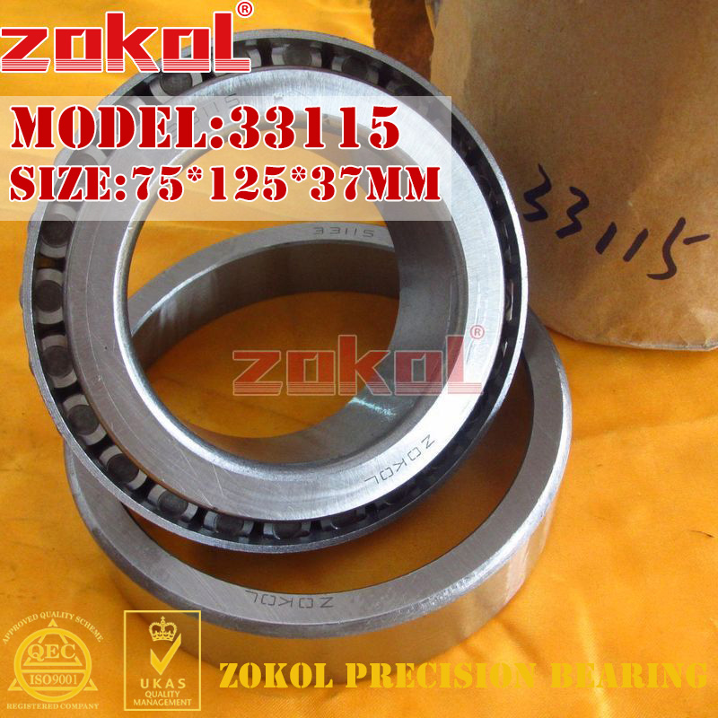 ZOKOL bearing 33115 3007715E Tapered Roller Bearing 75*125*37mm na4910 heavy duty needle roller bearing entity needle bearing with inner ring 4524910 size 50 72 22