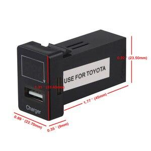 Автомобильное USB зарядное устройство 5 в 2,1 а для Toyota, USB зарядное устройство, аудио адаптер, разъем кабеля, интерфейсный кабель, приборная панель с вольтметром 12 В