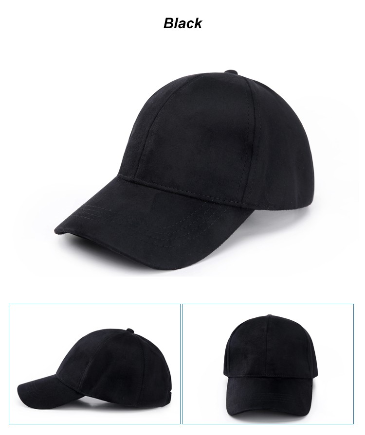 WEARZONE Unisex Soft Suede Baseball Cap Casual Solid Sports Hat Adjustable Breathable Dad Hats for Women Men 17