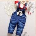 2016 new arrival  infant  jeans pant baby cartoon denim  pant classic cartoon design