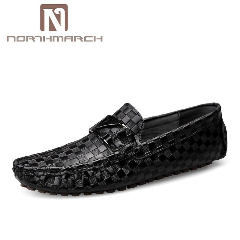 Мужские лоферы из натуральной кожи NORTHMARCH, темно синие повседневные деловые туфли на плоской подошве, свадебная обувь, 2019|Повседневная обувь|   | АлиЭкспресс