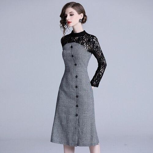 Party Dress Women Womens Casual Wear Designer Dress 2019 spring Robe Femme Sexy Dress OL party