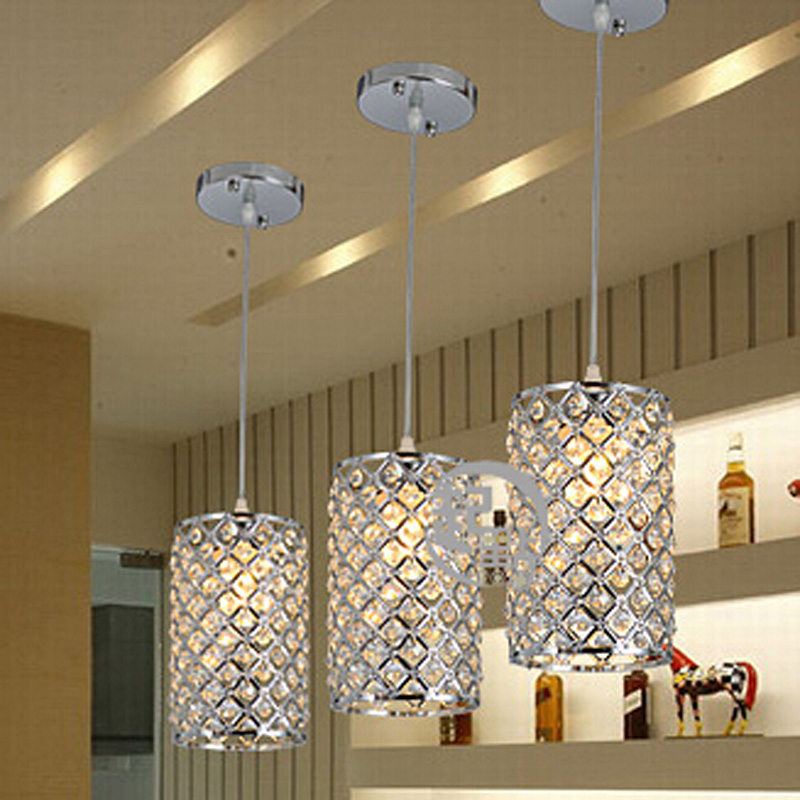 3pcs/set modern single LED crystal chandeliers lights modern crystal lamps aisle high power lights