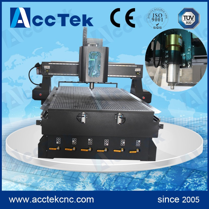 High precision table router woodworking linear atc cnc 1325 machine to cut wood