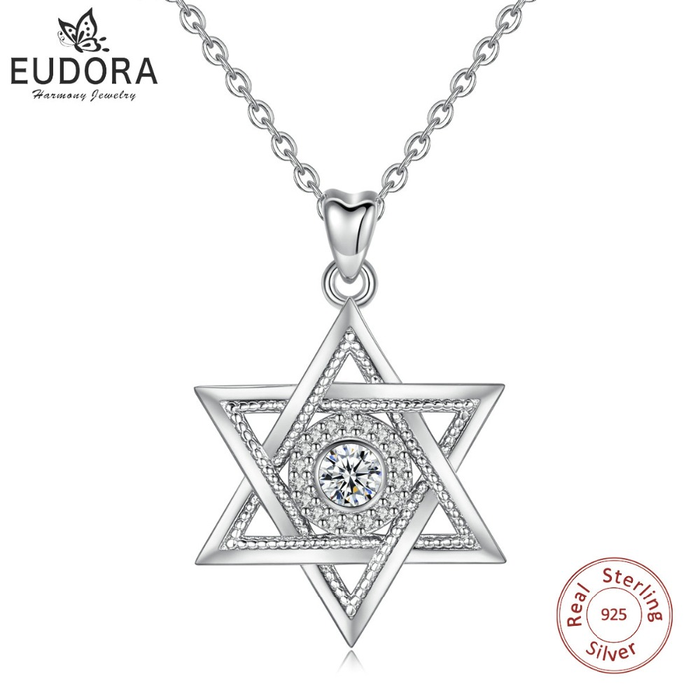 45cm // 18 inch 925 Sterling Silver Antique Star Pendant Necklace