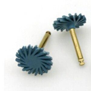 Image 2 - 6 sztuk/zestaw Dental Composite żywica tarcza do polerowania zestaw spirali Flex Brush Burs materiały stomatologiczne wybielanie zębów narzędzie ścierne zestaw
