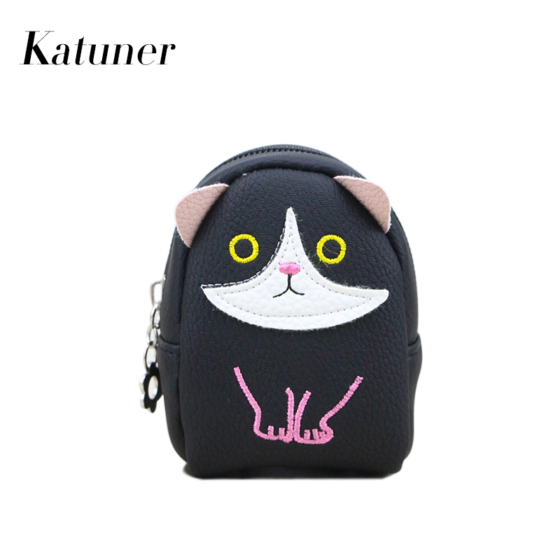 Katuner New Cute Coin Purse Kids Cartoon Wallet For Girls Kawaii Animal Shaped Coin Pouch Children Purse Women Coin Bag KB064 korean ladies transparent cartoon coin purse girls zipper coin wallet children cute animal mini key card pouch bag for kids