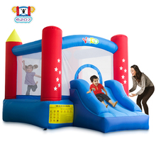 лучшая цена YARD Indoor Outdoor Bounce House with Slide Blower for Kids 6207 Inflatable Bouncer with Slide Bouncy Castle Jumping Trampoline