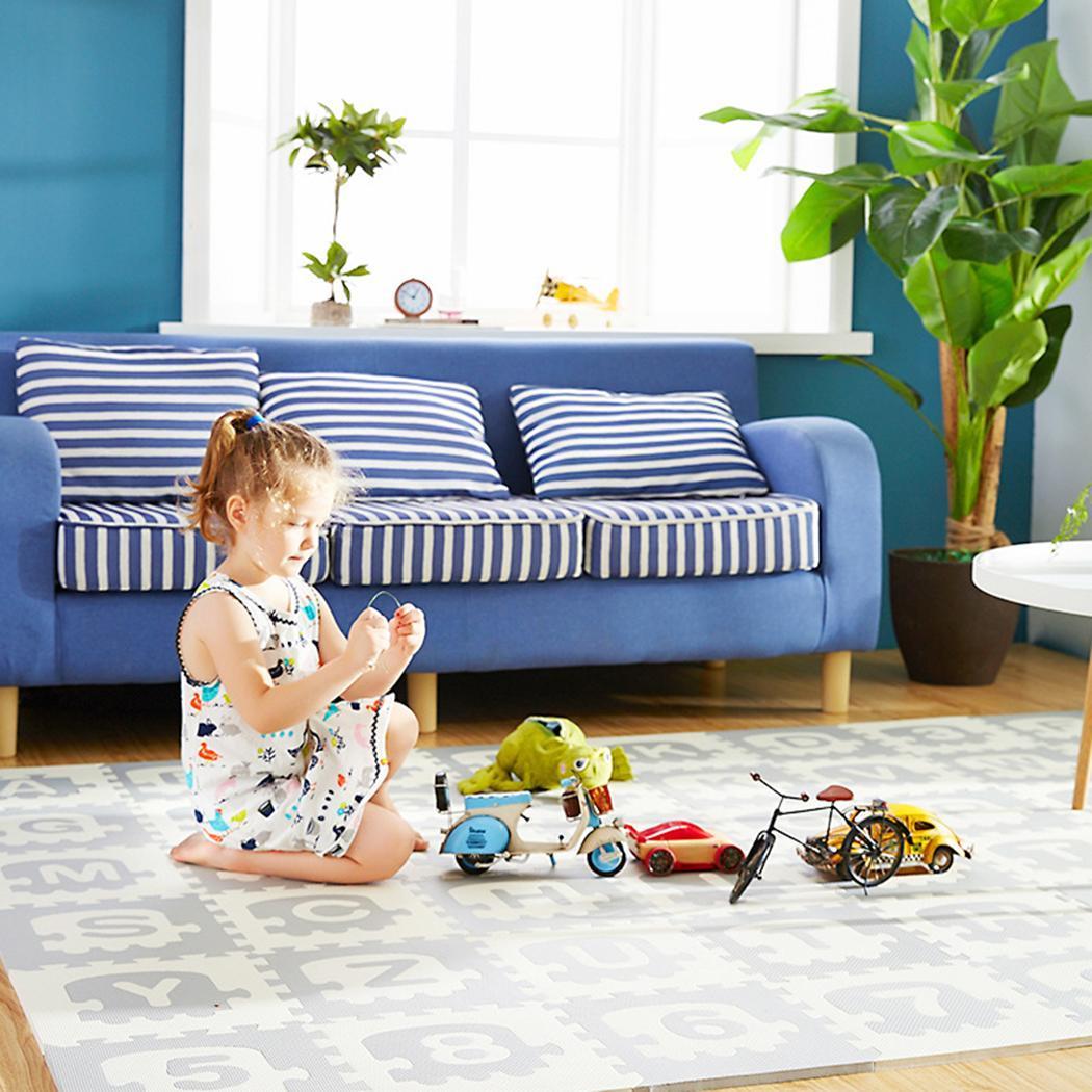 Tapis de jeu pour bébé Puzzle tapis gris pour enfants épaissi Tapete Infantil chambre de bébé tapis rampant Patch tapis pliant