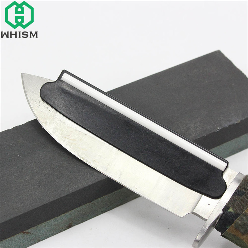 Us 2 51 16 Off Whism Plastic Knife Sharpening Angle Guide Unique Ceramic Whetstone Protective Fix Angle Knife Blade Tool Kitchen Accessories In