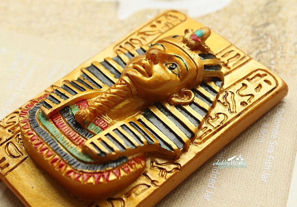 Egyptian Pharaoh, Egypt Tourist Travel Souvenir 3D Resin Decorative Refrigerator Magnet Craft GIFT